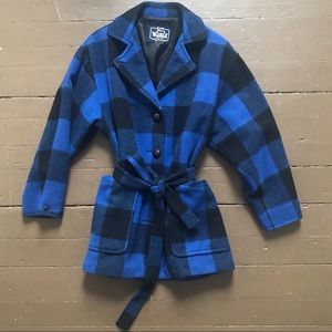 Vintage blue buffalo check jacket by Woolrich